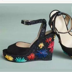 Botkier Shoes - Anthropologie Glitter Wedge Sandals
